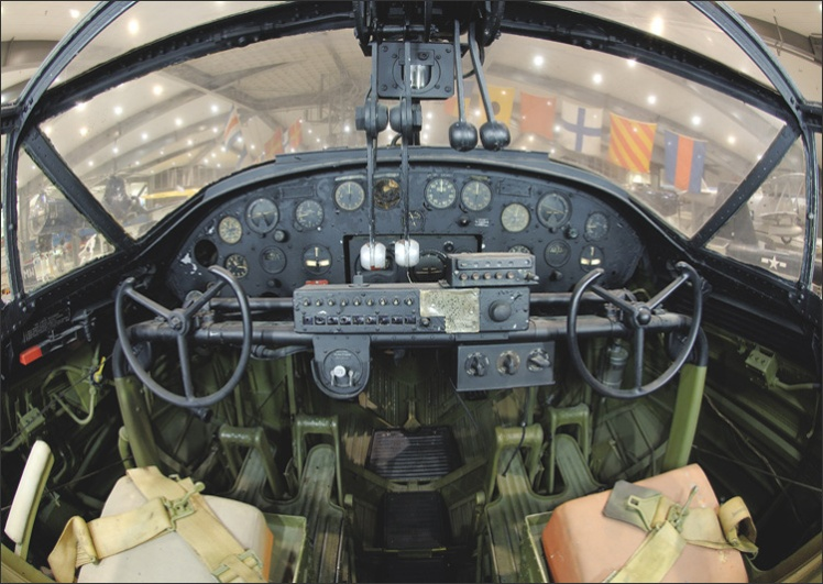 Panel del cockpit del PBY Catalina