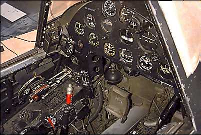 Cockpit del Vought F4U Corsair